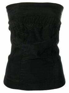 A.F.Vandevorst strapless blouse - Black