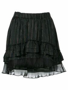 Isabel Marant short ruffled skirt - Black