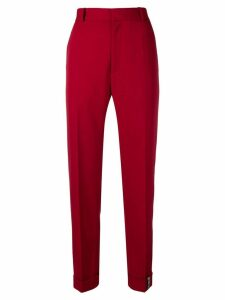 Y/Project smart cropped trousers - Red