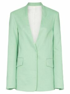Joseph Barr collarless cotton-blend blazer jacket - Green