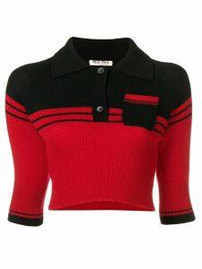 Miu Miu cropped cashmere pullover - Black