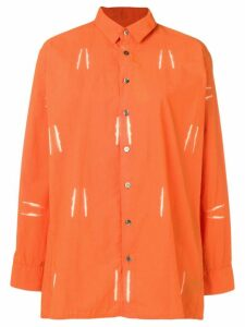 Suzusan bleached effect shirt - ORANGE