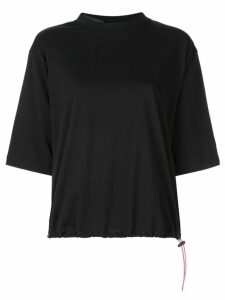Unravel Project drawstring T-shirt - Black