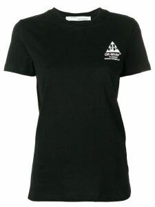 Off-White floral logo print T-shirt - Black