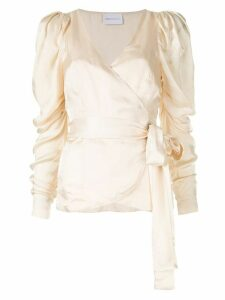 Alice McCall Blue Moon wrap blouse - NEUTRALS