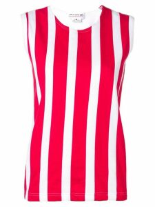 Comme Des Garçons Girl striped top - Red