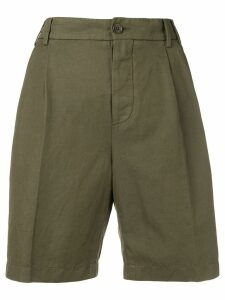 Aspesi high-waisted chino shorts - Green