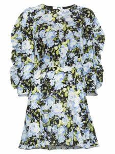 Les Rêveries Floral print mini-dress - Black