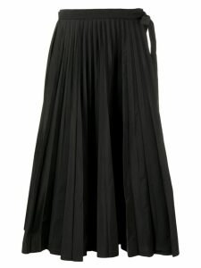 Valentino midi pleated skirt - Black