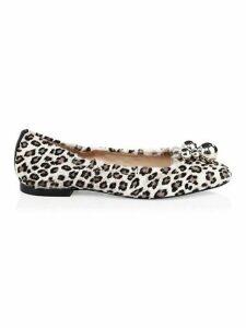 Cressida Leopard-Print Calf Hair Flats