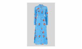 Elfrida Bud Print Silk Dress