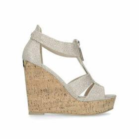 Carvela Krass - Metallic Gold High Heel Wedge Sandals