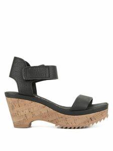 Pedro Garcia platform wedge sandals - Black