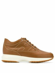 Hogan logo sneakers - Brown