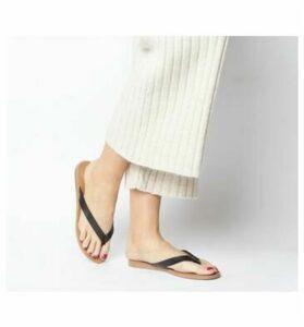 Office Sarong- Flip Flop BLACK LEATHER
