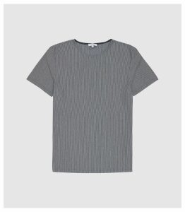 Reiss Clapham - Vertical Striped T-shirt in Charcoal, Mens, Size XXL