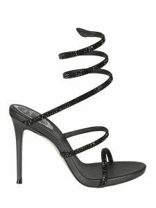 René Caovilla Crystal Embellished Sandals