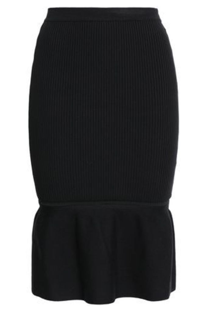 Alexander Wang Woman Ribbed-knit Skirt Black Size S