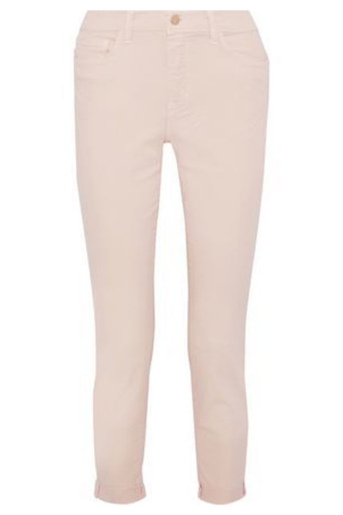 L'agence Woman Rachel Cropped Mid-rise Straight-leg Jeans Pastel Pink Size 31