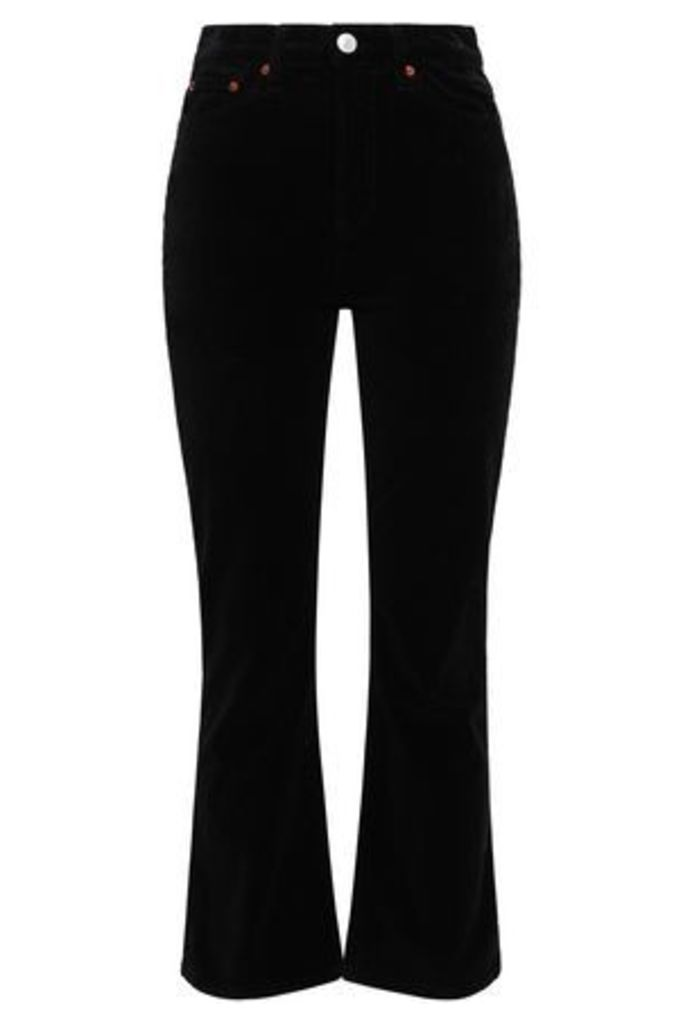 Re/done Woman Velvet Bootcut Pants Black Size 26