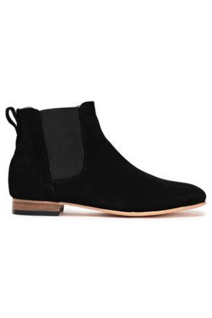 Dieppa Restrepo Woman Troy Suede Ankle Boots Black Size 7.5