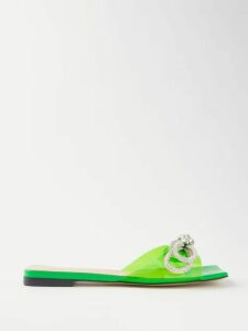 Msgm - Floral-jacquard Tie-dye Cotton Sweater - Womens - Blue Navy