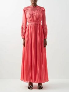 Sies Marjan - Sander Crinkled-satin Shirt - Womens - Gold