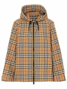 Burberry Vintage Check hooded jacket - NEUTRALS