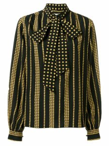 Saint Laurent star print blouse - Black