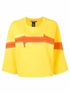 Suzusan paint effect T-shirt - Yellow