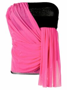 MSGM draped bustier top - PINK