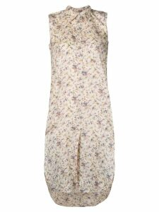 Mes Demoiselles sleeveless floral shirt - NEUTRALS