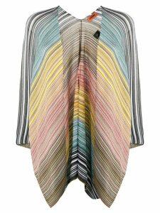Missoni striped poncho - NEUTRALS