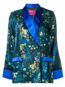 F.R.S For Restless Sleepers blossom print satin shirt - Blue