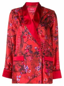 F.R.S For Restless Sleepers blossom print satin shirt - Red