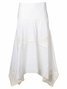 See By Chloé embroidered napkin skirt - White