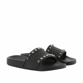 Valentino Loafers & Slippers - Rockstud PVC Flip Flop Black - black - Loafers & Slippers for ladies