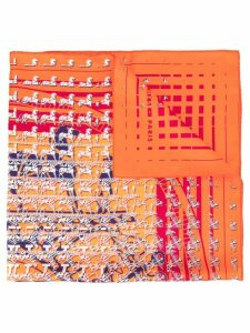 Hermès Pre-Owned Faubourg Seconde Scarf Stole - Orange