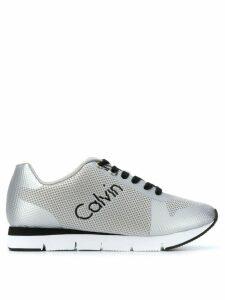 Calvin Klein Jeans mesh panel running sneakers - SILVER
