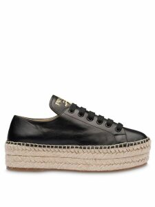 Prada Madras platform sneakers - Black