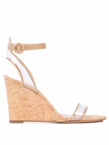 Aquazzura Minimalist wedge sandals - Brown