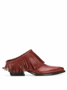 Sartore fringed mules - Red