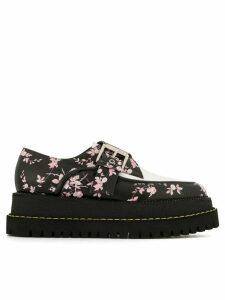 Nº21 floral buckle loafers - Black