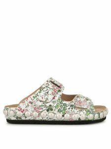 Giambattista Valli floral open-toe sandals - SILVER