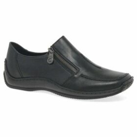 Rieker  Cloud Womens Leather Slip On Shoes  women's Loafers / Casual Shoes in Black