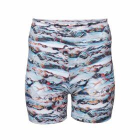 Lobo Mau - Fuzzy Print Terry Cropped Sweatshirt