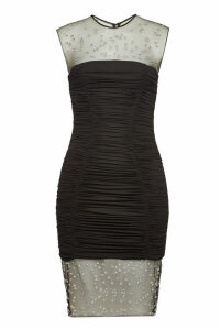 Balmain Cocktail Mini Dress with Crystals