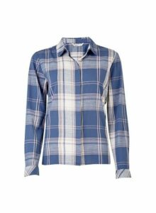 Womens **Only Multi Colour Checked Shirt- Blue, Blue