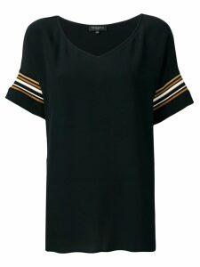 Antonelli striped sleeve tunic - Black