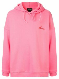 We11done oversized logo hoodie - Pink